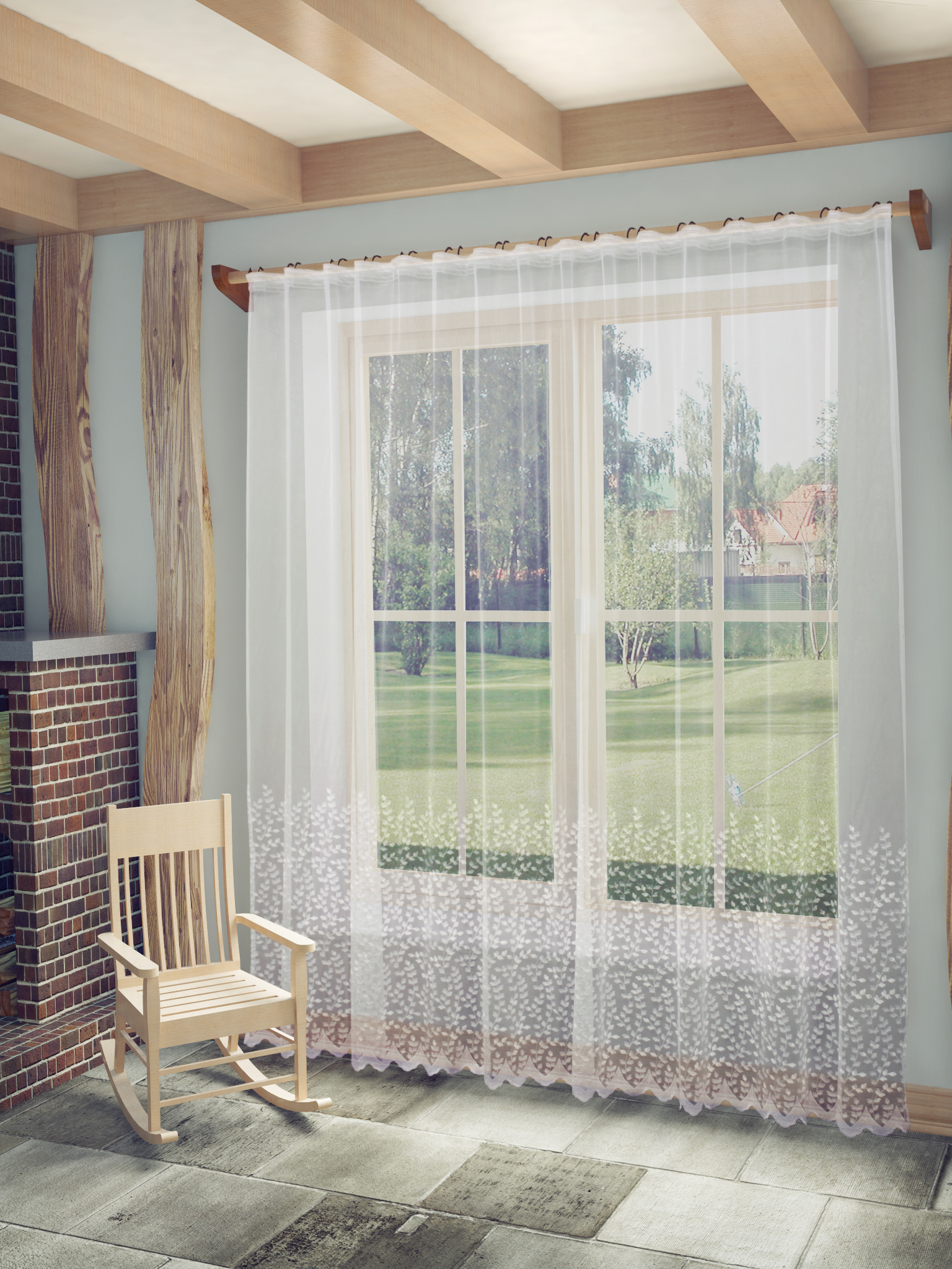 Купить Шторы Sanpa, Классические шторы Марсела Цвет: Белый, Россия, Тюль