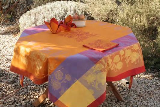 Купить Скатерти и салфетки Lencera, Скатерть Coquelicot Цвет: Оранжевый (160х250 см), Испания, Жаккард
