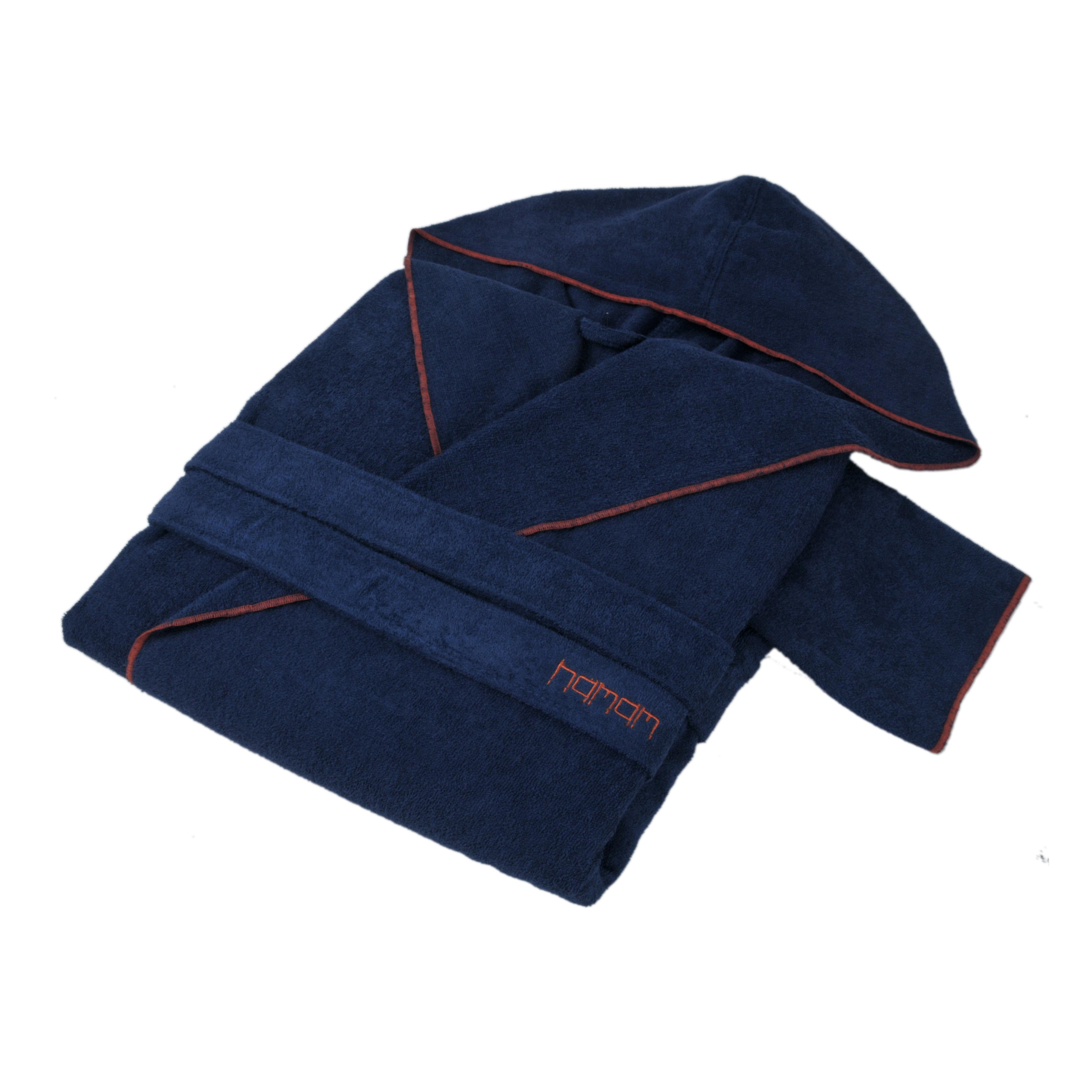 Банный халат Meyzer Contrast Цвет: Синий, Красный (L-xL) фото