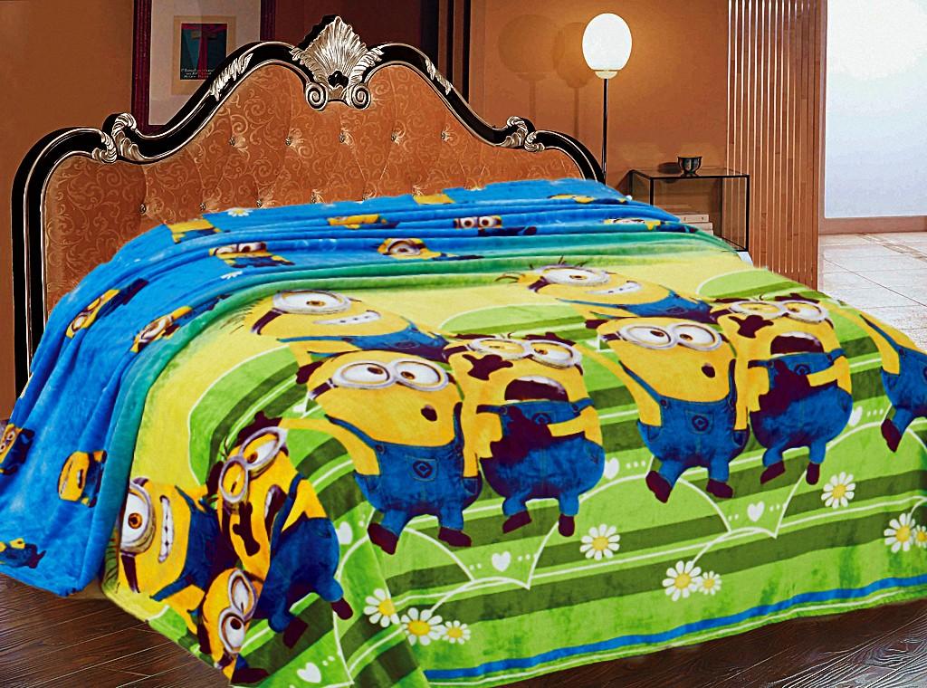 Купить Покрывала, подушки, одеяла для малышей Elegante, Детский плед Миньоны (150х200 см), Китай, Желтый, Зеленый, Синий, Синтетический флис
