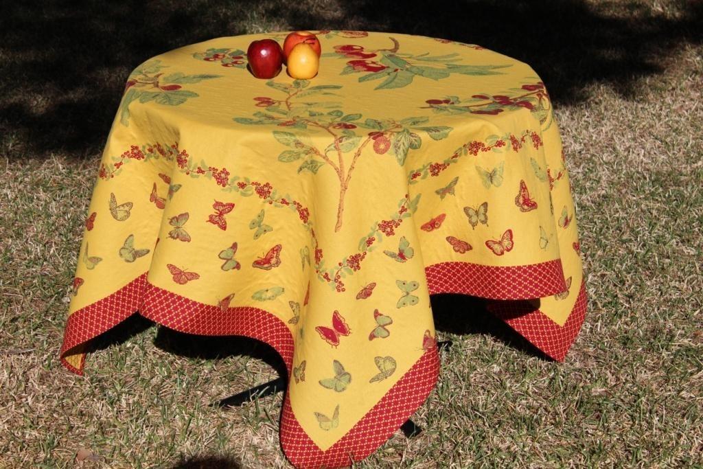 Купить Скатерти и салфетки Lencera, Скатерть Jardin Цвет: Желтый (160х200 см), Испания, Жаккард