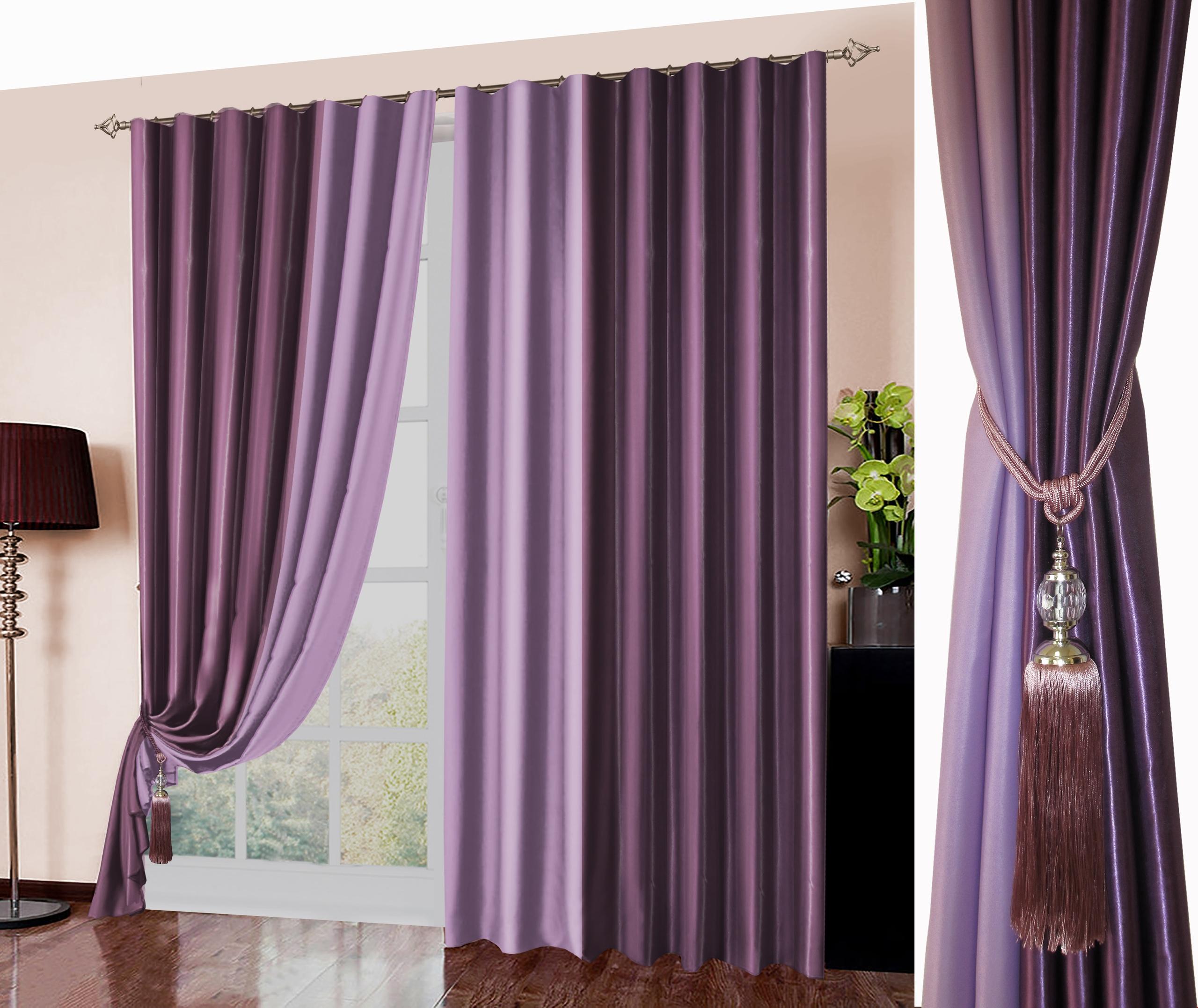 Классические шторы Hayleigh Цвет: Фиолетовый, Сиреневый