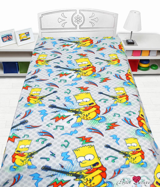 Купить Покрывала, подушки, одеяла для малышей Mona Liza, Детский плед Simpsons (150х200 см), Россия, Белый, Голубой, Синтетический флис