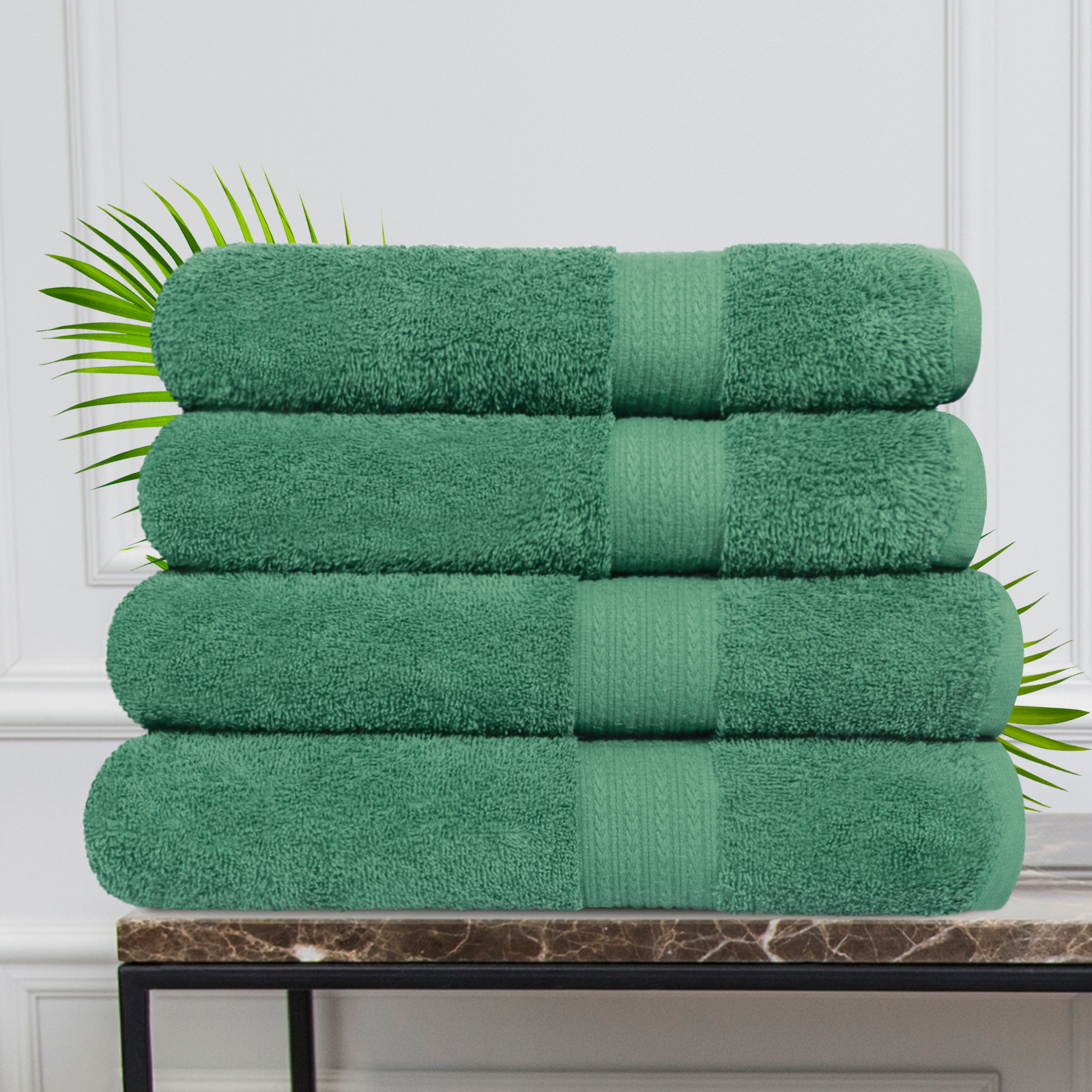 Набор из 4 полотенец Morocco Цвет: Зеленый (50х90 см - 2 шт, 70х140 см - 2 шт)