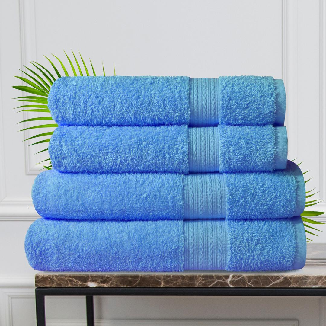 Набор из 4 полотенец Morocco Цвет: Голубой (50х90 см - 2 шт, 70х140 см - 2 шт)