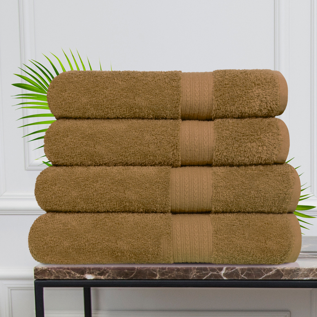 Набор из 4 полотенец Morocco Цвет: Коричневый (50х90 см - 2 шт, 70х140 см - 2 шт)