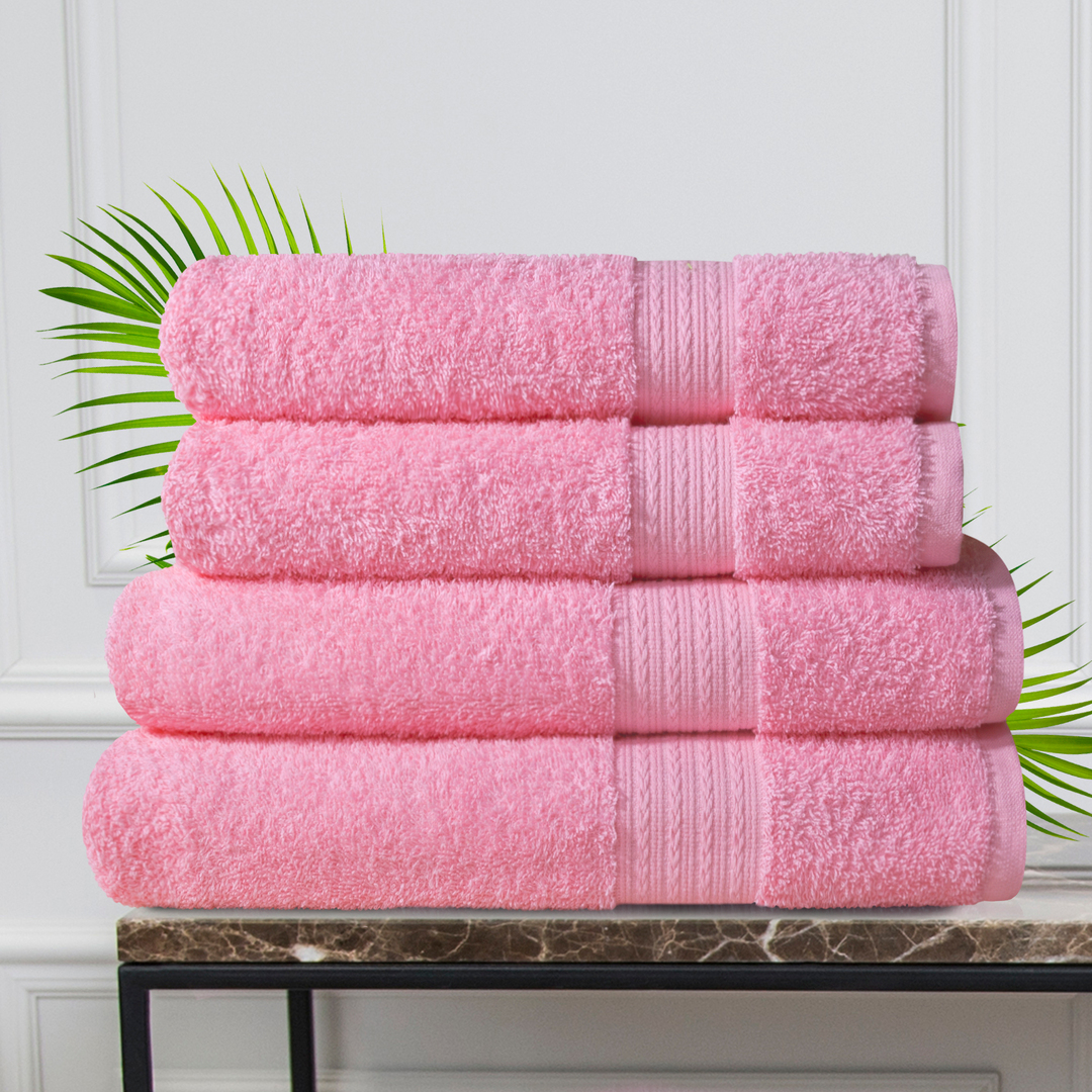 Набор из 4 полотенец Morocco Цвет: Розовый (50х90 см - 2 шт, 70х140 см - 2 шт)