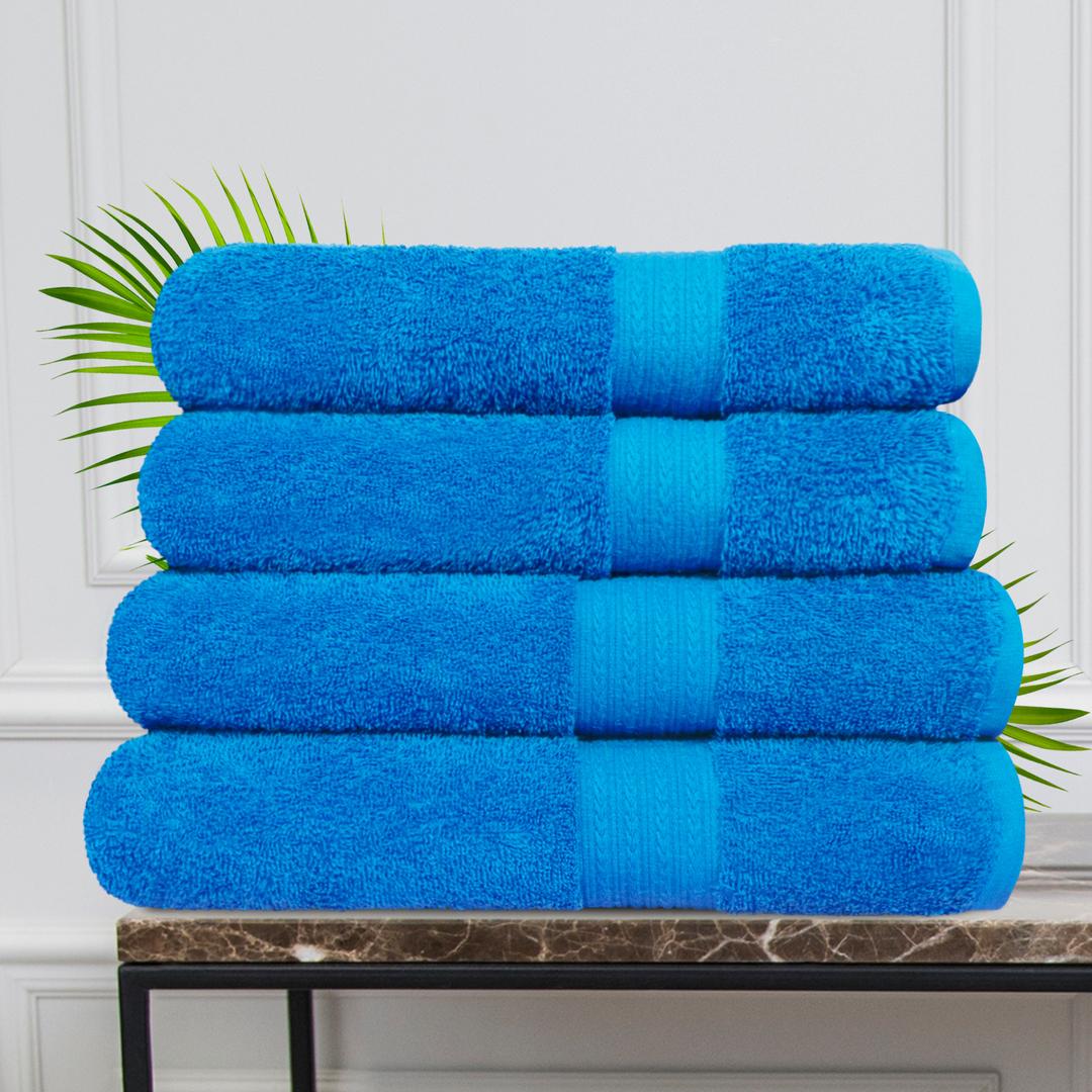 Набор из 4 полотенец Morocco Цвет: Синий (50х90 см - 2 шт, 70х140 см - 2 шт)