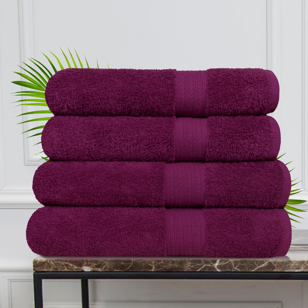Набор из 4 полотенец Morocco Цвет: Сливовый (50х90 см - 2 шт, 70х140 см - 2 шт)