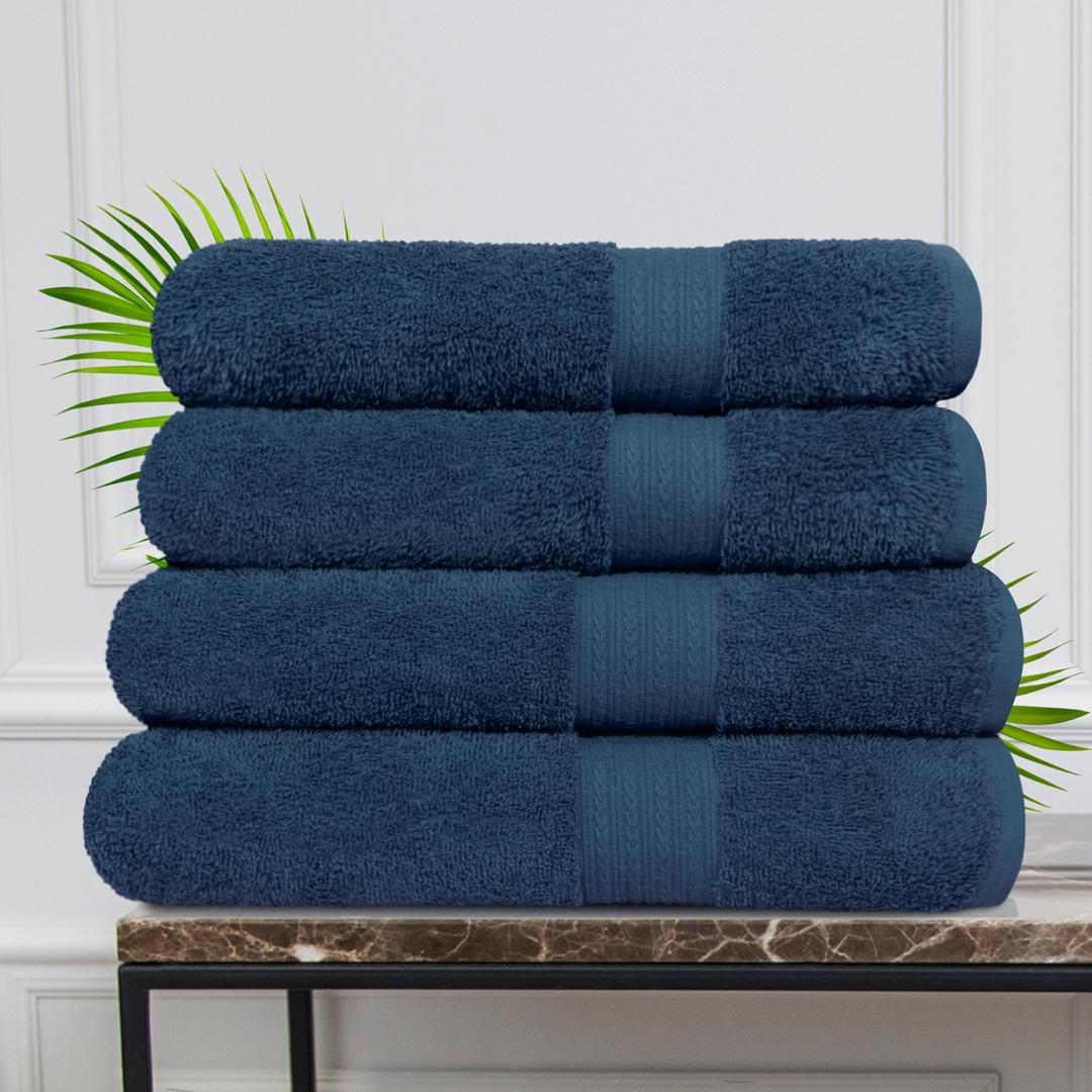 Набор из 4 полотенец Morocco Цвет: Темно-Синий (50х90 см - 2 шт, 70х140 см - 2 шт)