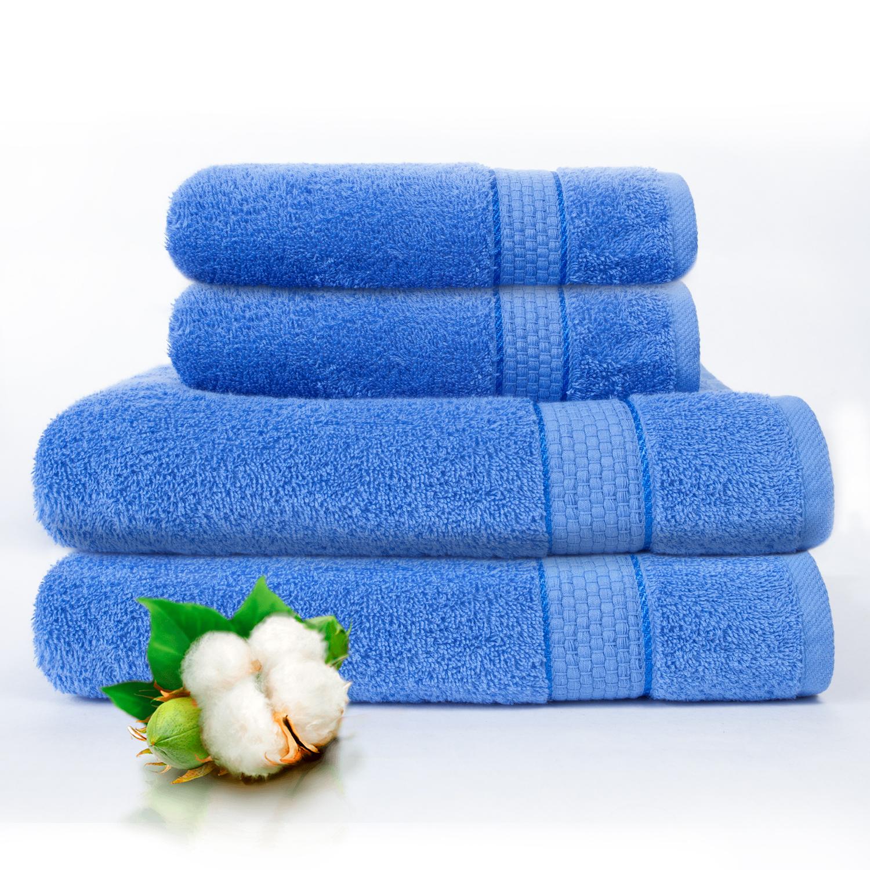 Набор из 4 полотенец Marakesh Цвет: Голубой (50х90 см - 2 шт, 70х140 см - 2 шт)