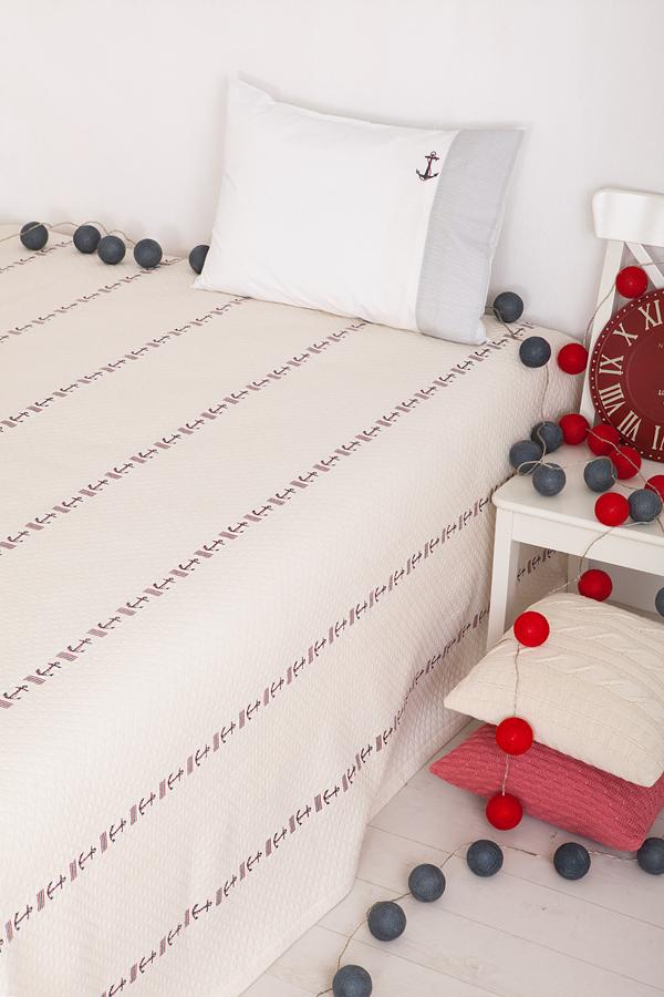 Купить Покрывала, подушки, одеяла для малышей Luxberry, Детское покрывало Морячок Цвет: Экрю (200х220 см), Португалия, Хлопковый жаккард