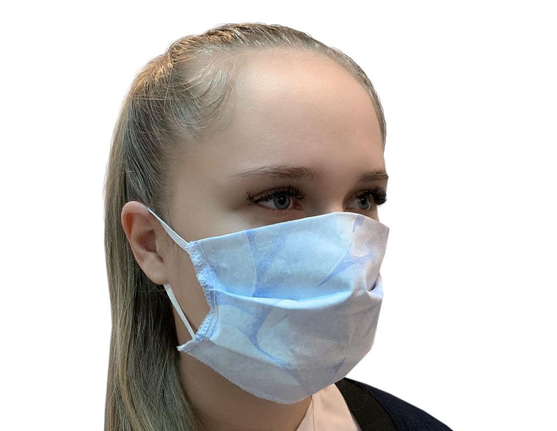 Маска защитная тканевая многоразовая Цвет: В Ассортименте (10х19 см - 1 шт)