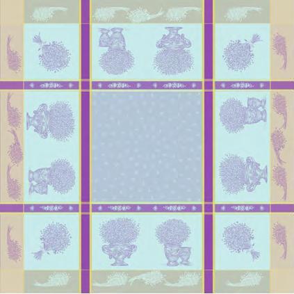 Купить Скатерти и салфетки Lencera, Скатерть Valayans Цвет: Фиолетовый (160х250 см), Испания, Жаккард