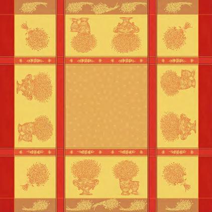 Купить Скатерти и салфетки Lencera, Скатерть Valayans Цвет: Терракотовый (160х250 см), Испания, Жаккард