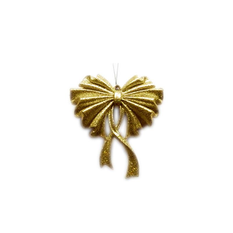 Новогоднее украшение Бант Цвет: Золотой (15 см) фото