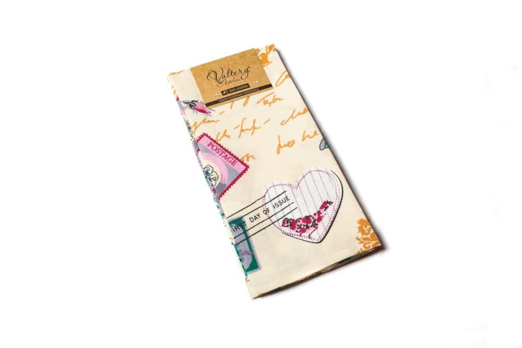 Полотенца Шуйские Ситцы Кухонное полотенце Париж Цвет: Ваниль (50х60 см - 2 шт) картина париж продавцы цветов у мадлена холст масло 50х60 см