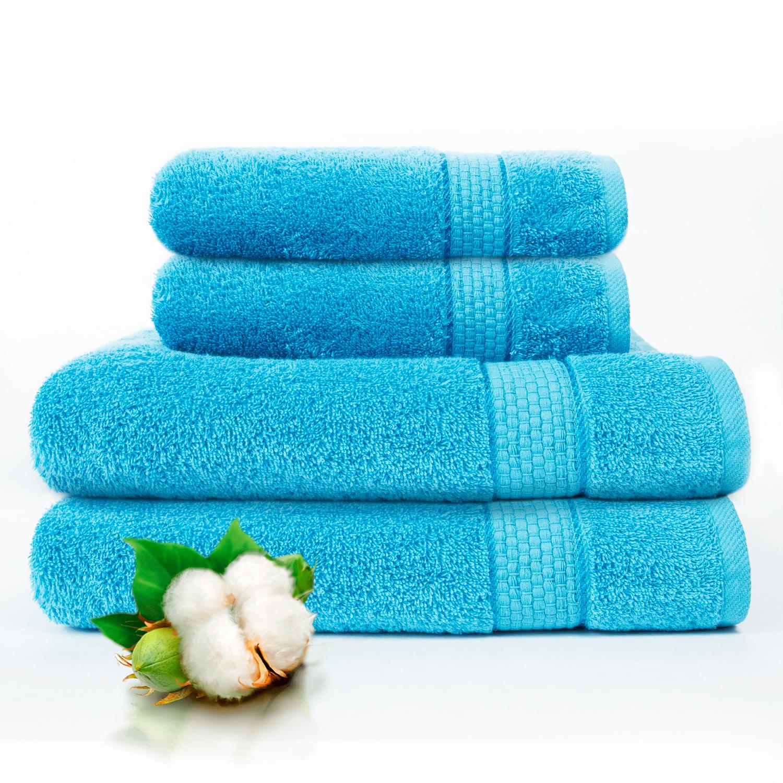 Набор из 4 полотенец Marakesh Цвет: Небесно-Голубой (50х90 см - 2 шт, 70х140 см - 2 шт)
