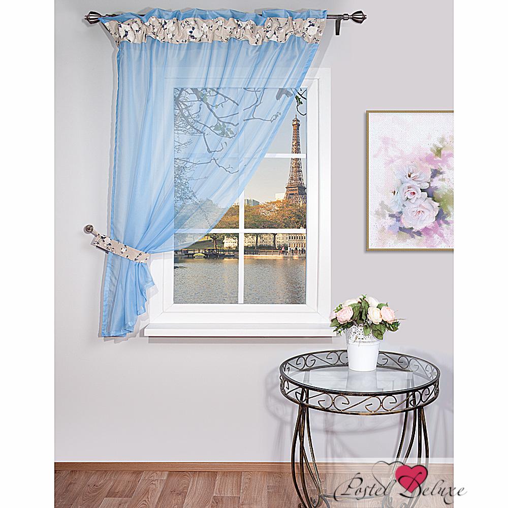 Купить Шторы Nivasan, Классические шторы Glanville Цвет: Голубой, Беларусь, Портьерная ткань, Вуаль