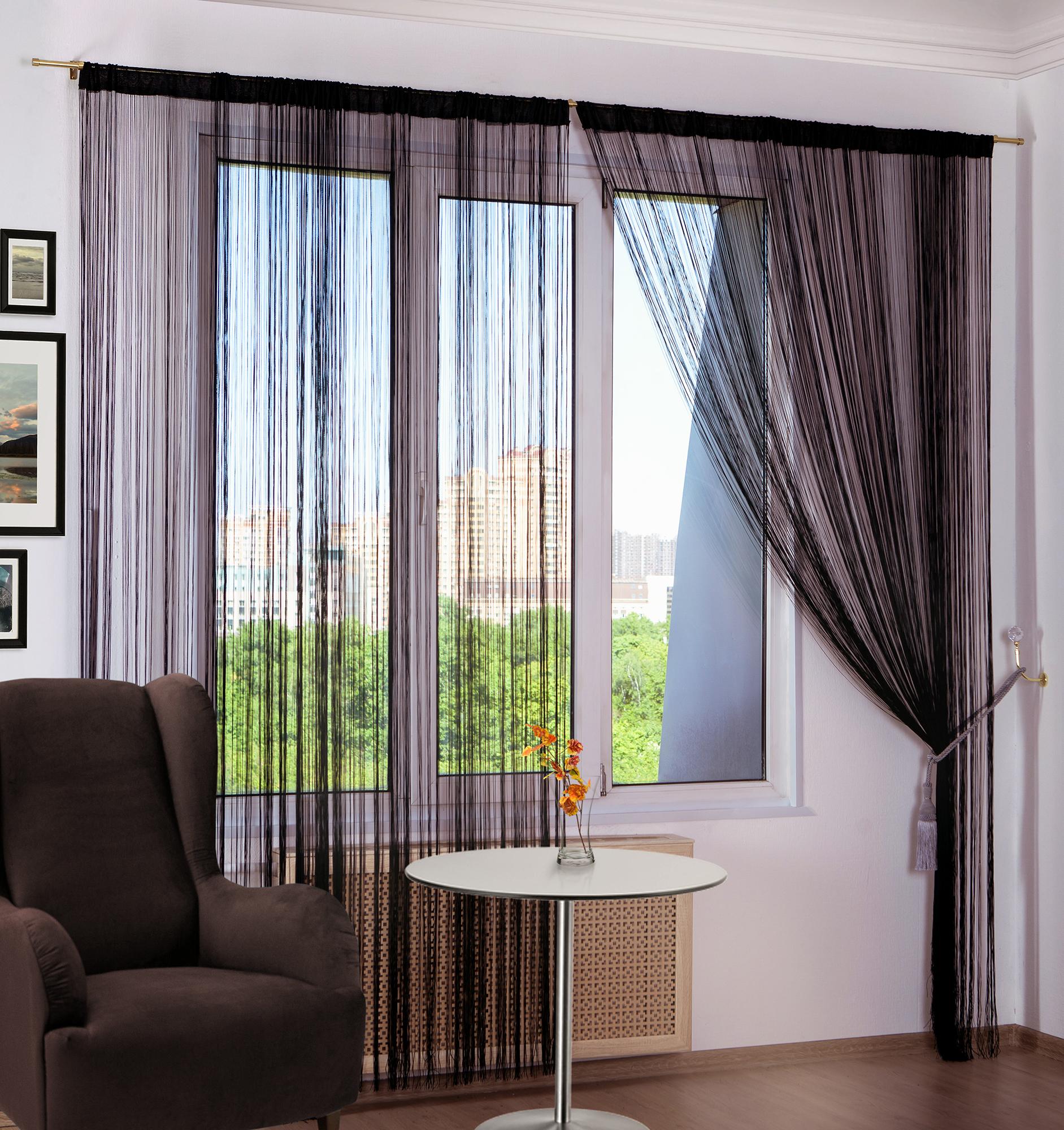 Нитяные шторы Jess Цвет: Черный