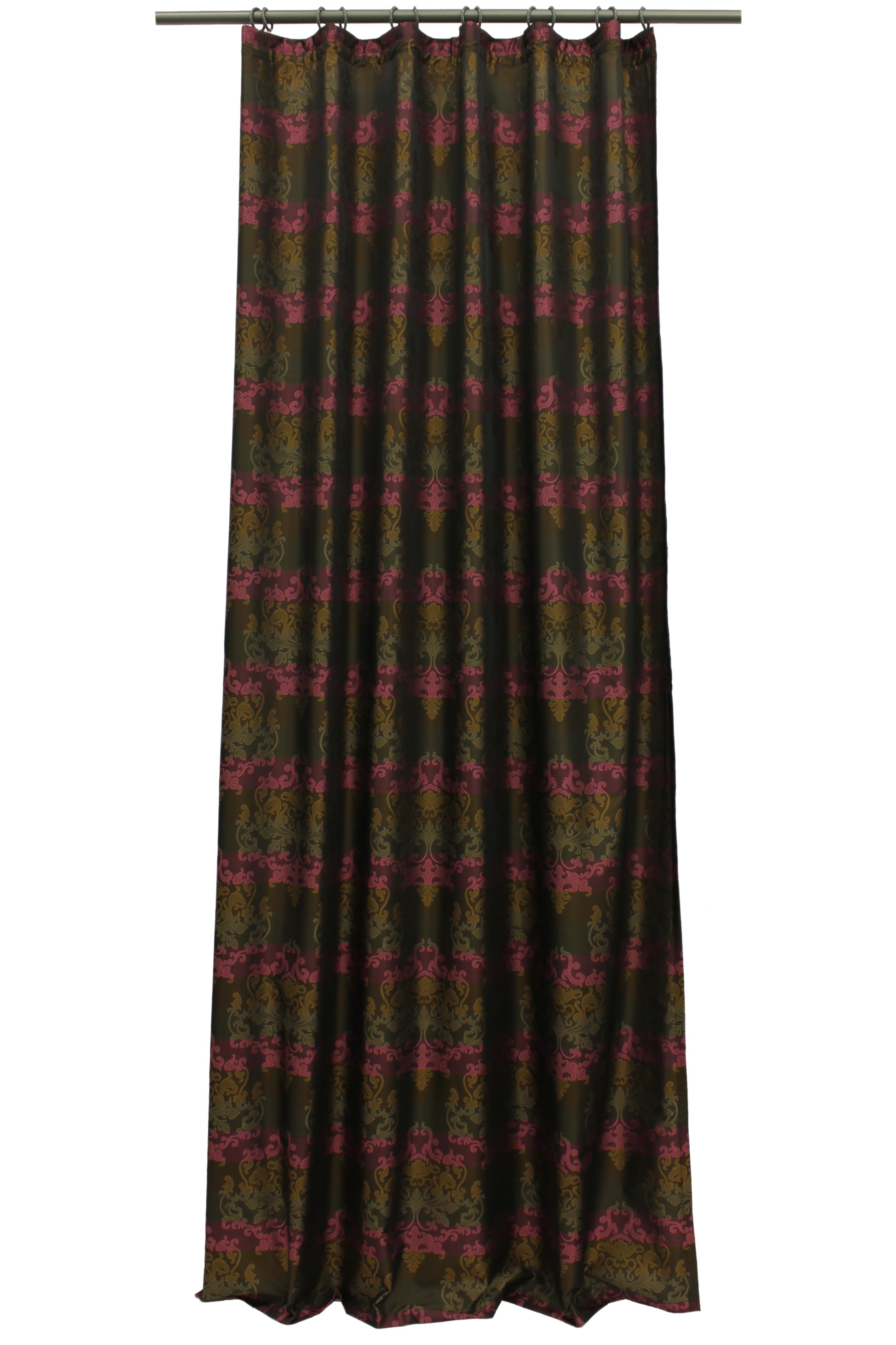 Купить Шторы Sanpa, Классические шторы Hemera Цвет: Фиолетово-Коричневый, Россия, Тафта