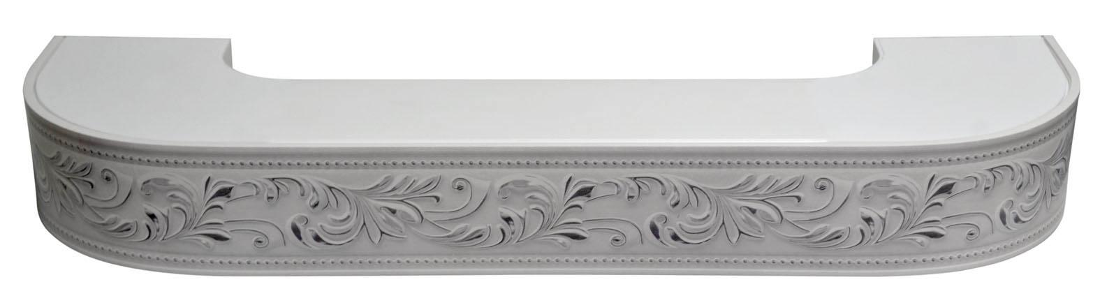 Карнизы и аксессуары для штор ARCODORO Карниз Овация Цвет: Белый Хром (400 см)