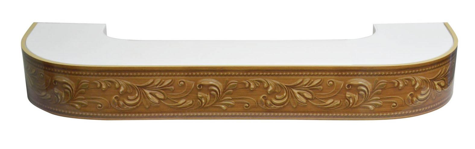 Карнизы и аксессуары для штор ARCODORO Карниз Овация Цвет: Орех (400 см)