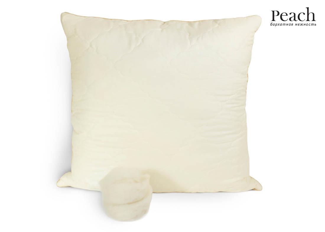 Купить Подушки Peach, Подушка Peach из Овечьей Шерсти Упругая (70х70), Великобритания, Микрофибра