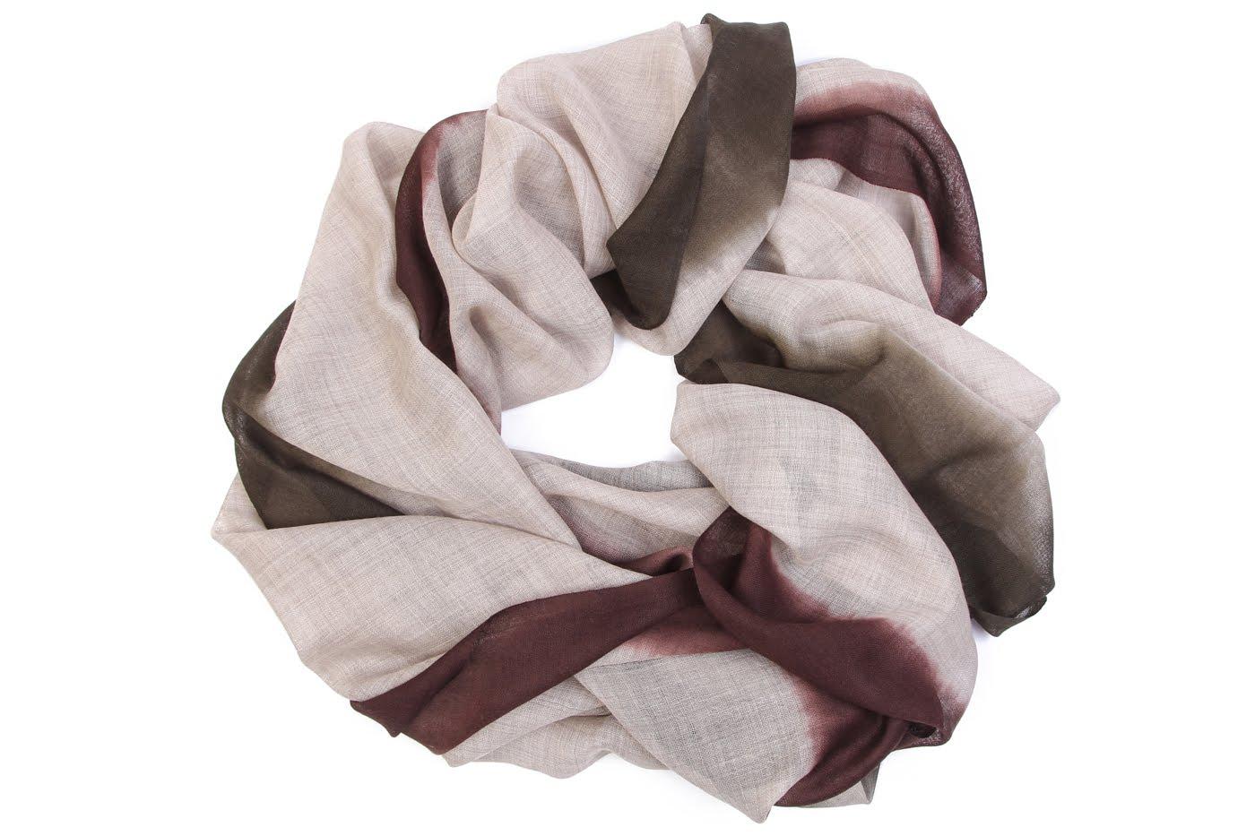 Накидка-палантин Natille Цвет: Серый, Коричневый (70х190 см) фото
