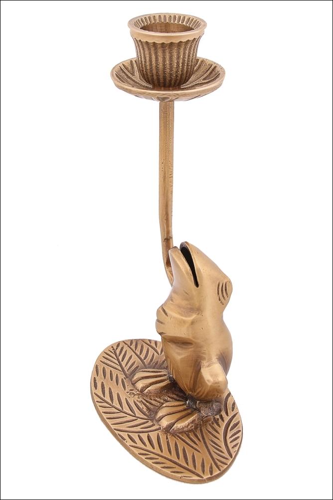 Декоративные свечи Ганг Подсвечник Лягушка (6х10х17 см) подсвечники ганг подсвечник