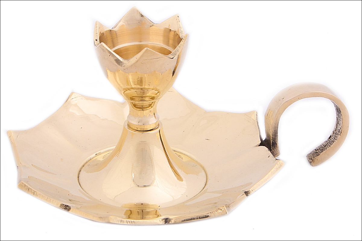 Купить Декоративные свечи Ганг, Подсвечник Brando Цвет: Золотой (6х9, 5х12, 5 см - 2 шт), Индия, Латунь