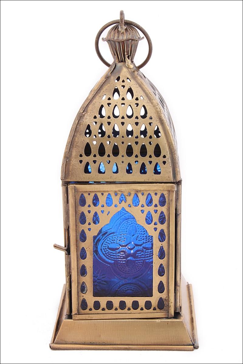 Декоративные свечи Ганг Подсвечник Фонарь Цвет: Синий (8х8х17 см) подсвечник фонарь 24 5х38 см