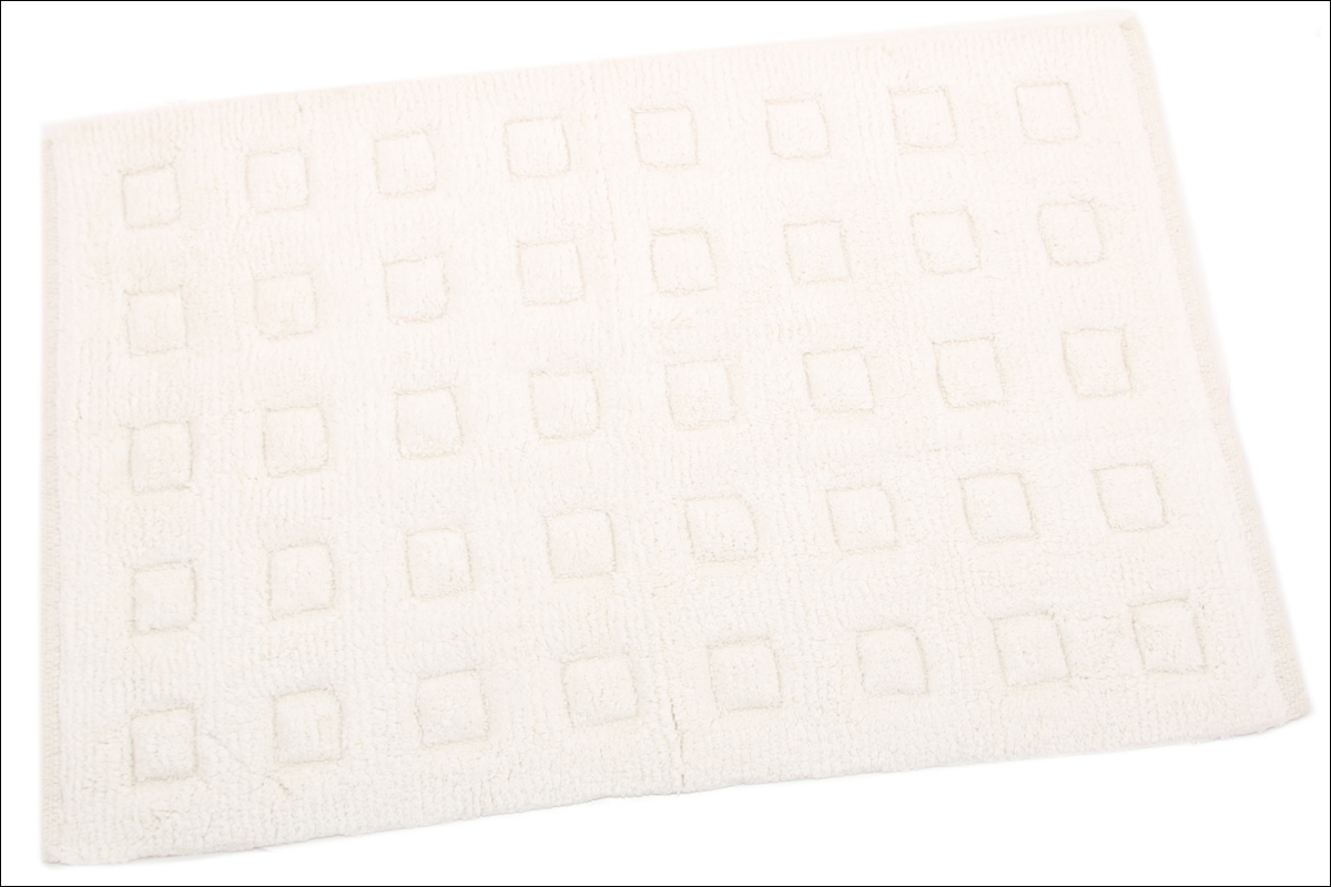 Купить Коврики для ванной и туалета Ганг, Коврик для ванной Mariabella Цвет: Белый (50х80 см), Индия, Махра