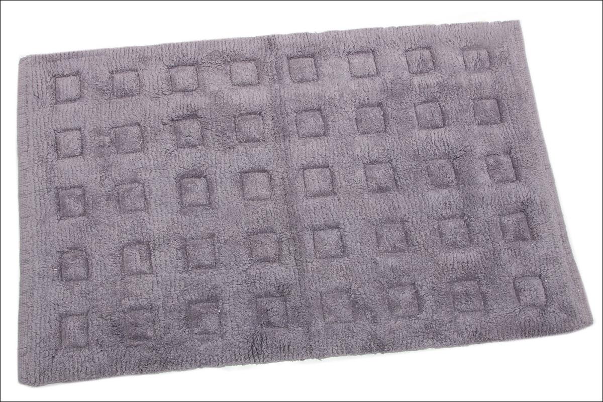 Купить Коврики для ванной и туалета Ганг, Коврик для ванной Daffodil Цвет: Серый (50х80 см), Индия, Махра
