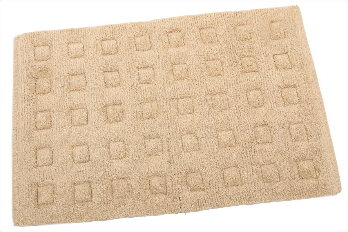 Купить Коврики для ванной и туалета Ганг, Коврик для ванной Clement Цвет: Коричневый (50х80 см), Индия, Махра