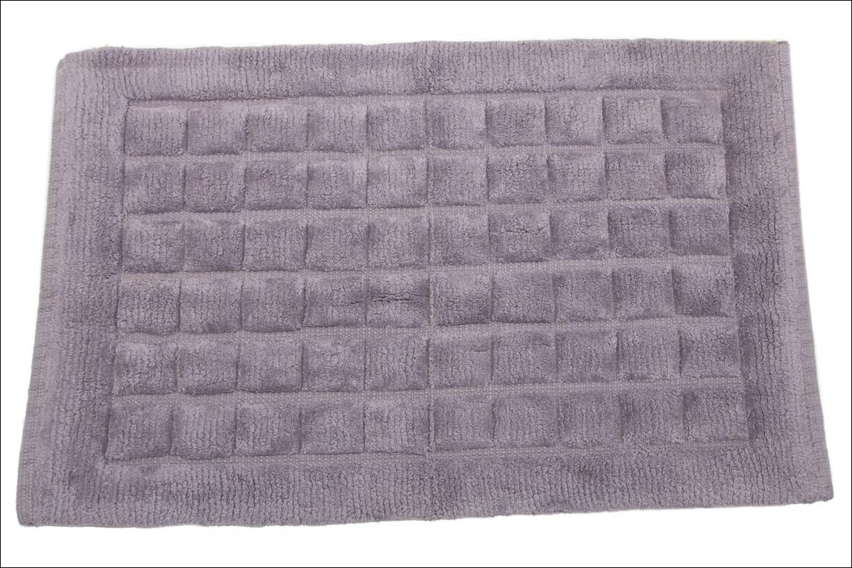 Купить Коврики для ванной и туалета Ганг, Коврик для ванной Eowyn Цвет: Серый (50х80 см), Индия, Махра