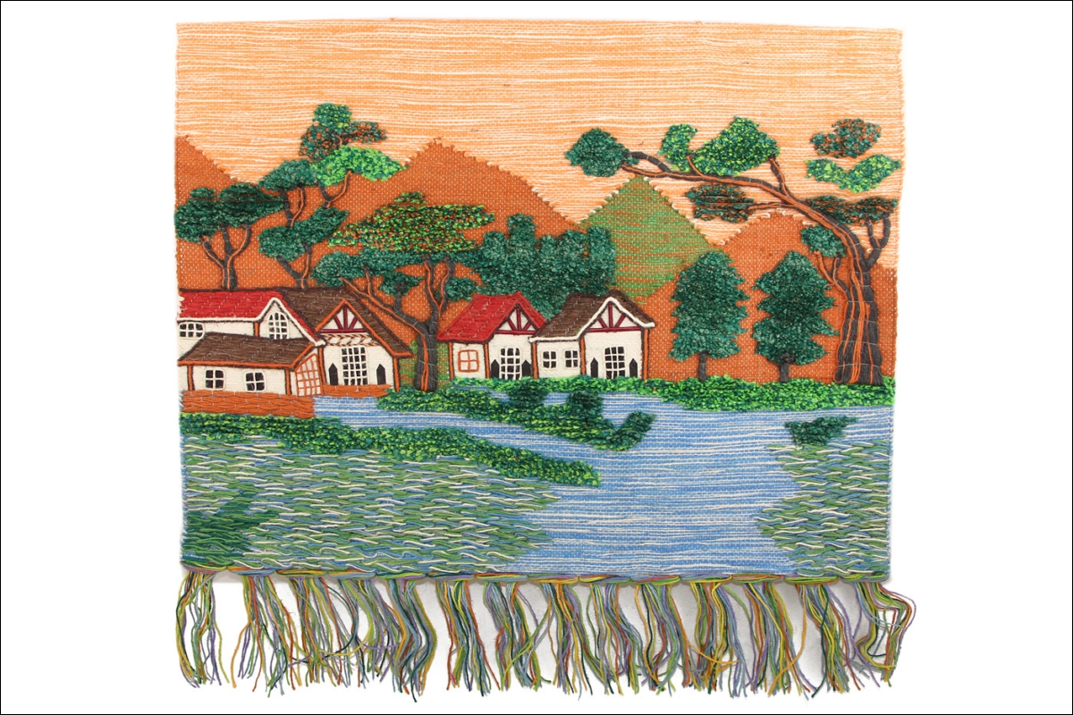 Купить Картины, постеры, гобелены, панно Ганг, Картина-гобелен Ona Цвет: Мультиколор (80х100 см), Индия, Гобелен