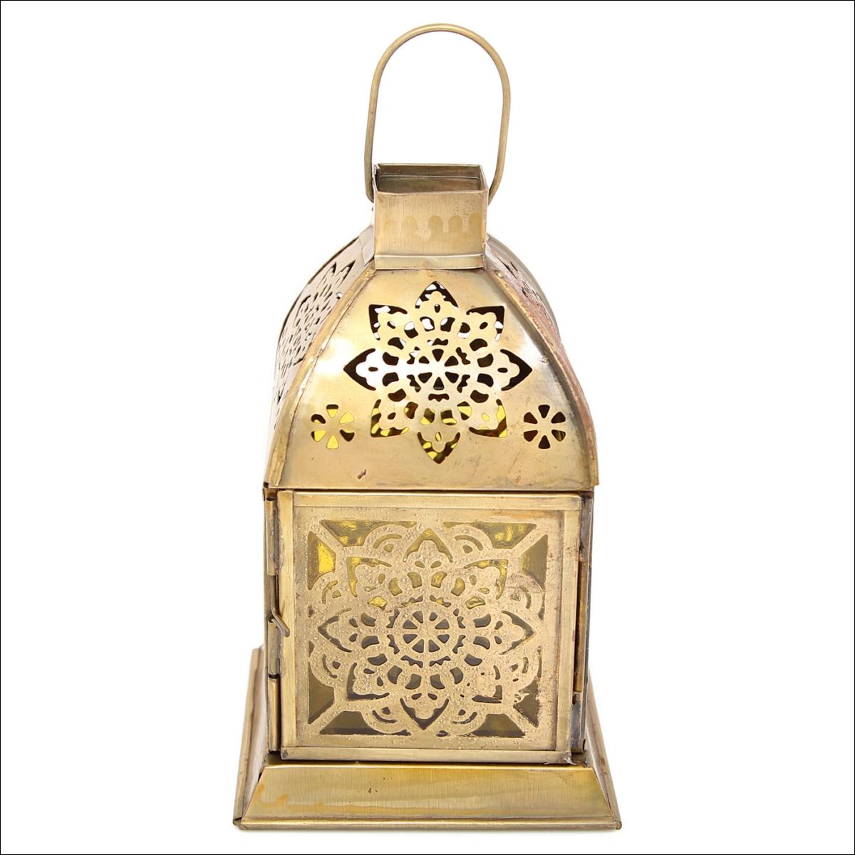Декоративные свечи Ганг Подсвечник Фонарь Цвет: Жёлтый (10х10х16 см) подсвечник фонарь белый 16х33 см