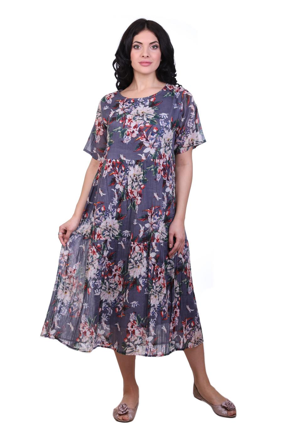Платье Merv Цвет: Серый, Мультиколор (50) фото