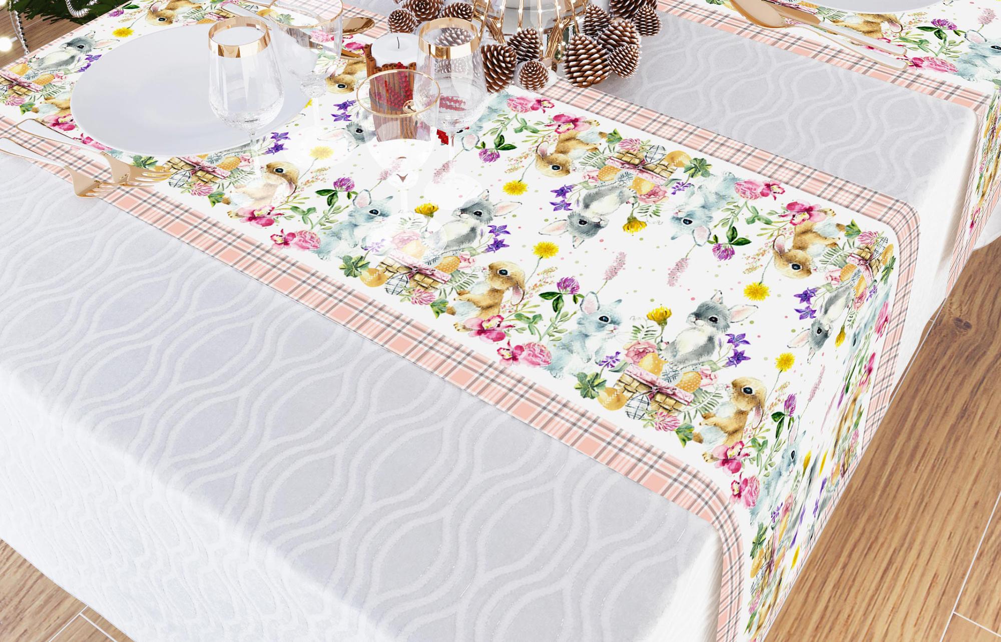 Дорожка на стол Пасхальные Крольчата (40х140 см)