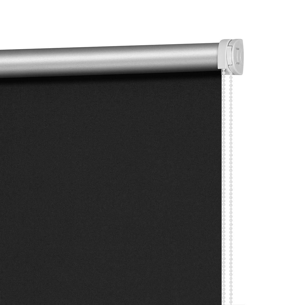Рулонные шторы Плайн Цвет: Черный Графит