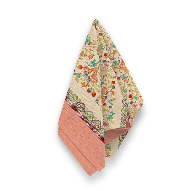 Купить Полотенца Романтика, Кухонное полотенце Меандр (50х70 см), Россия, Вафля