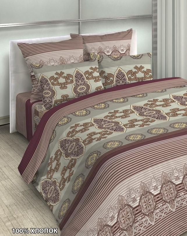 Купить Комплекты постельного белья Примавера, Постельное белье Darrel (2 сп. евро), Китай, Белый, Бордовый, Зеленый, Поплин
