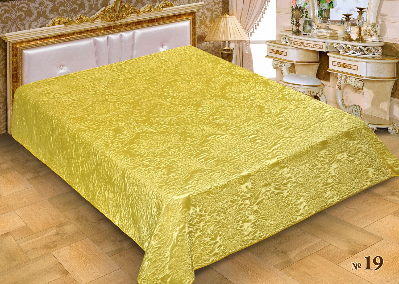 Купить Пледы и покрывала Marianna, Покрывало Benet (150х220 см), Россия, Желтый, Атласный шелк