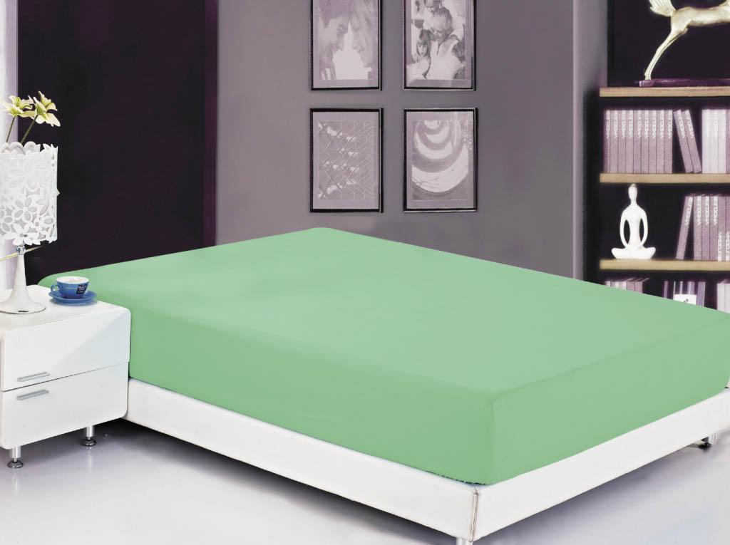 Простыни Valtery Простыня на резинке Roxy Цвет: Темно-Зеленый (200х220)