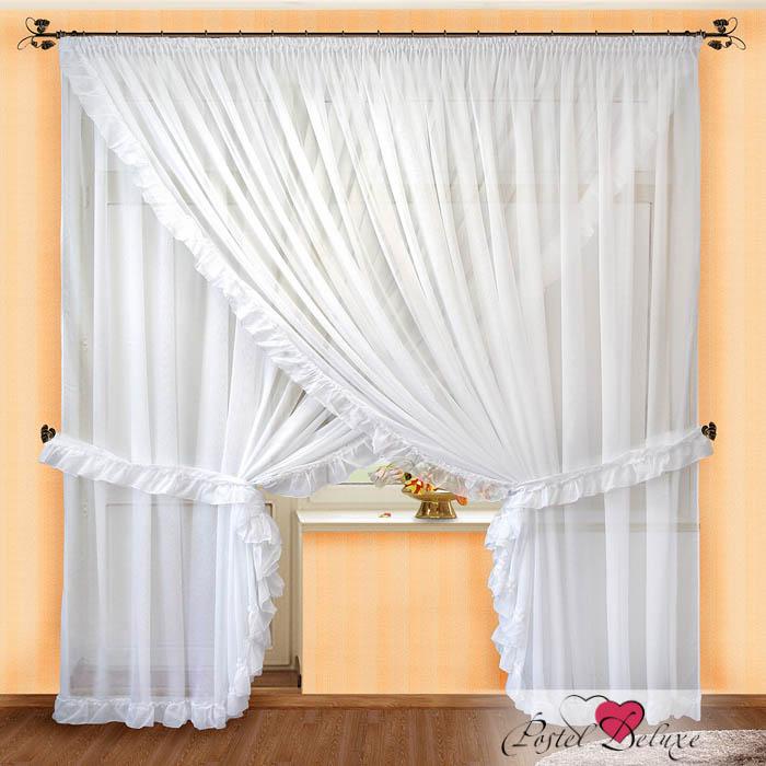 Купить Шторы РеалТекс, Скрещенные шторы Anne Цвет: Белый, Россия, Вуаль