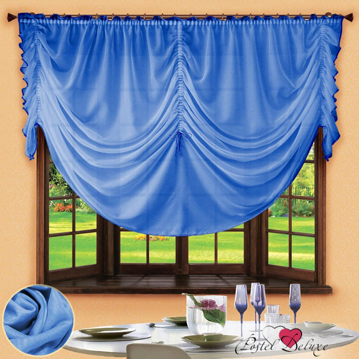 Шторы РеалТекс Французские шторы Corzano Цвет: Голубой шторы реалтекс классические шторы alexandria цвет венге молочный венге