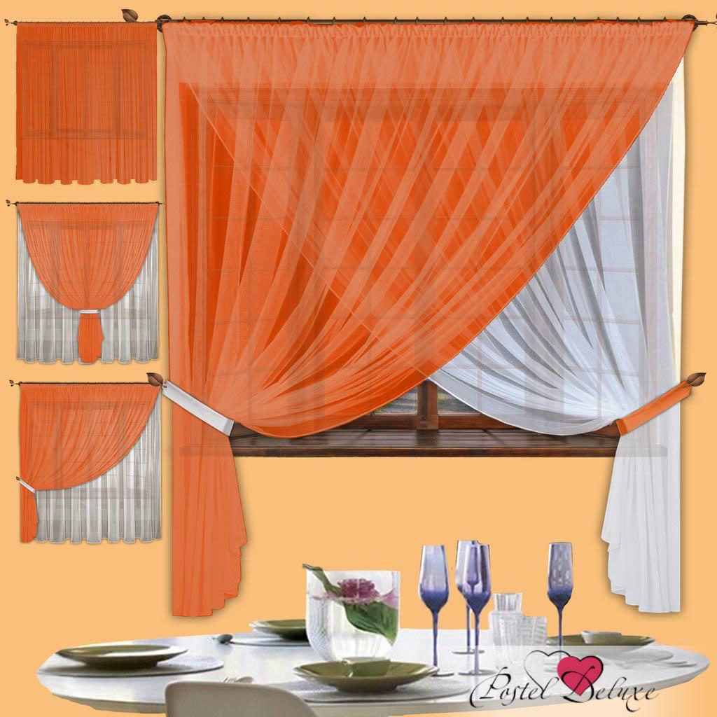 Купить Шторы РеалТекс, Скрещенные шторы Diana Цвет: Оранжевый, Россия, Вуаль
