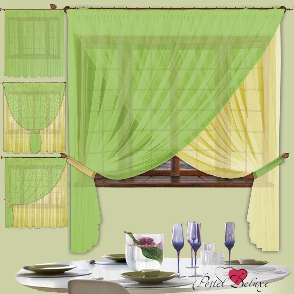 цены Шторы РеалТекс Скрещенные шторы Diana Цвет: Фисташковый-Пастельно-Желтый