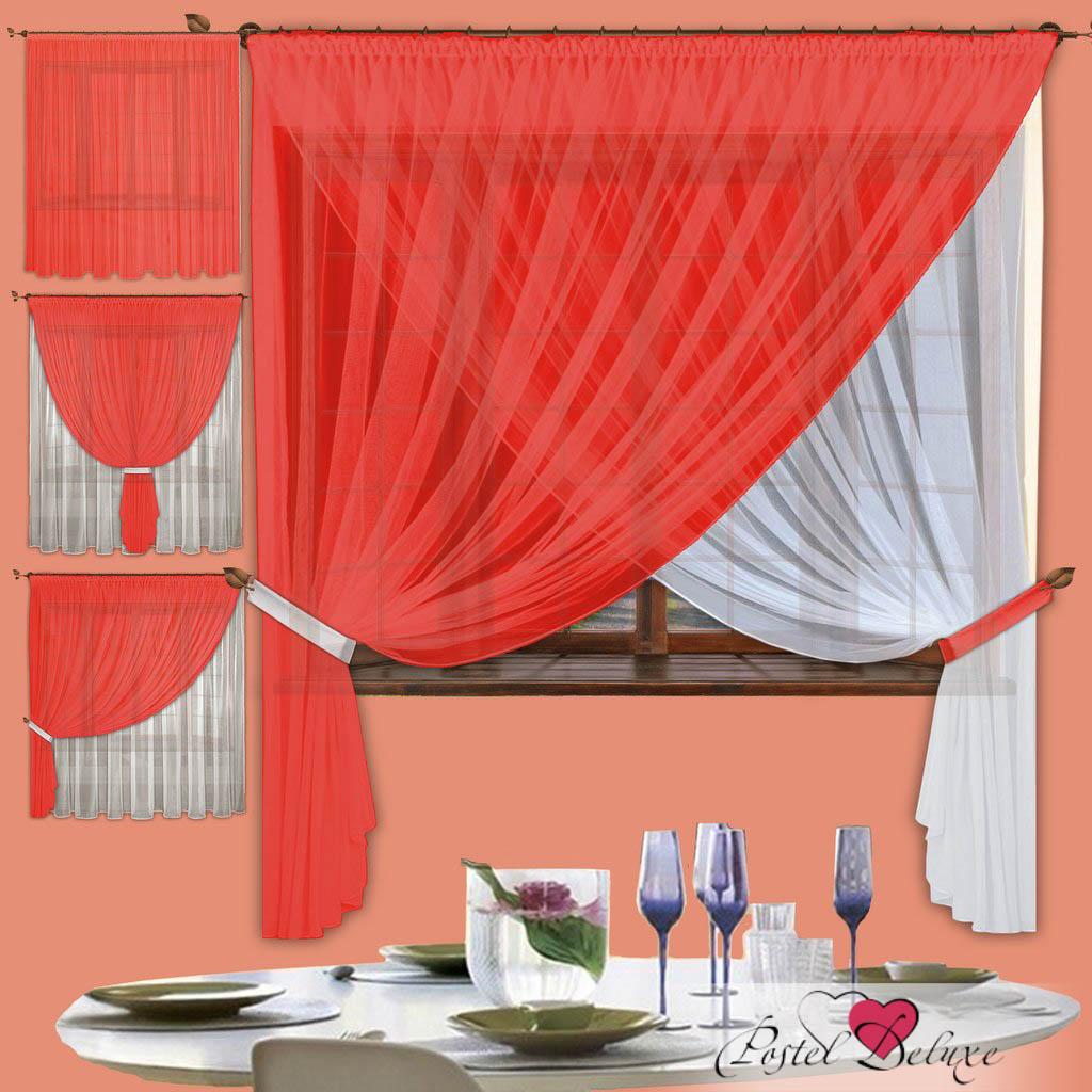 Купить Шторы РеалТекс, Скрещенные шторы Diana Цвет: Алый, Россия, Красный, Вуаль